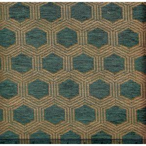 010973T HEXAGON Blue Quadrille Fabric