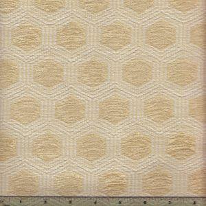 010970T HEXAGON Ivory Quadrille Fabric