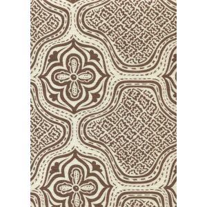 7140-07 HMONG BATIK Brown on Tint Quadrille Fabric