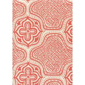 7140-04 HMONG BATIK New Shrimp on Tint Quadrille Fabric