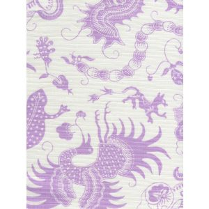9005-02 INDRAMAYU Lavender on White Quadrille Fabric