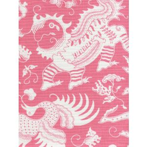 9010-05 INDRAMAYU REVERSE Dark Pink on White Quadrille Fabric