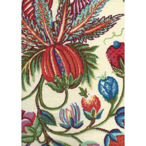 301590F JACARANDA Multi on Cream Quadrille Fabric