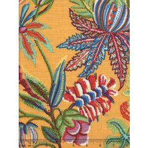301591F JACARANDA Multi on Mango Quadrille Fabric