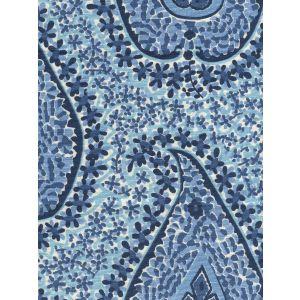 010612T KATMANDU II Sky Cream Navy Quadrille Fabric