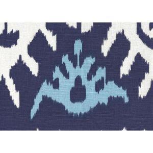 302830S KAZAK Blue on Silk Quadrille Fabric