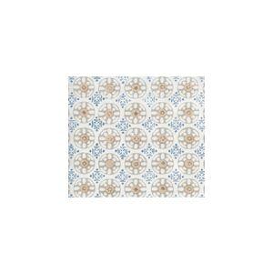 8170-10WLC KEDIRI BATIK Pale Putty Beige Teal Blue Quadrille Fabric