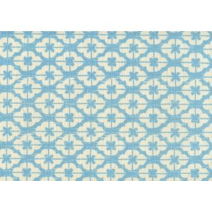 7130-04 KYOTO New Blue on Tinted Linen Custom Only Quadrille Fabric