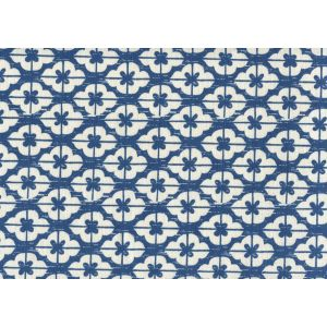 7130-08 KYOTO New Navy on Tinted Linen Custom Only Quadrille Fabric