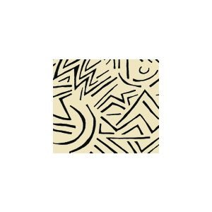 AC204-39 LASCAUX Black on Tint Quadrille Fabric