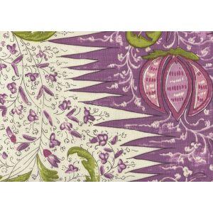 302652F LES INDIENNES MULTICOLOR Multi Lilac Plum Green Quadrille Fabric