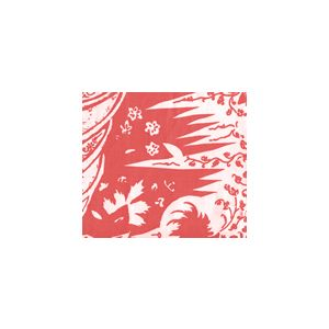 302661F LES INDIENNES Shrimp on Tint Quadrille Fabric