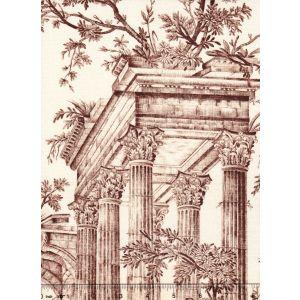 1589-02 LES PECHEURS TOILE Bistre Quadrille Fabric