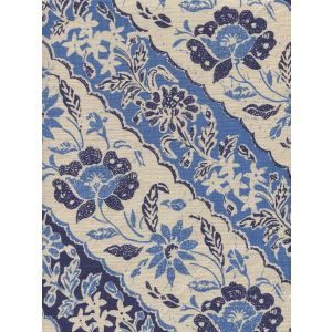 7810T-05 LIM DIAGONAL Blue Navy on Tan Quadrille Fabric