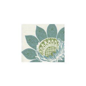 HC1260-06SUN LORRAINE Turquoise Green Quadrille Fabric