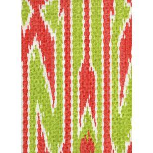 7300-01 LUCAYA IKAT MULTI Orange Green Quadrille Fabric