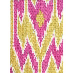 7300-02 LUCAYA IKAT MULTI Pink Yellow Quadrille Fabric