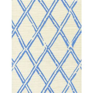 6710-03 LYFORD DIAMOND BAMBOO French Blue on Tint Quadrille Fabric