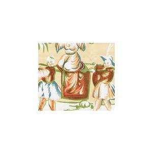 6010-CUSTM LYFORD PRINT Yellow Mango Coral Green Quadrille Fabric
