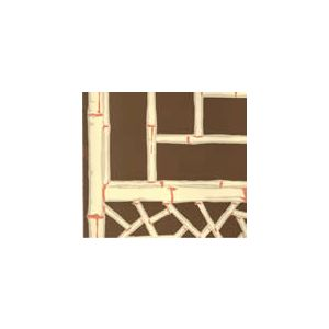 6020-01 LYFORD TRELLIS Natural on Brown Quadrille Fabric
