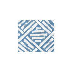 6760-04WSUN MACOCO REVERSE Periwinkle on White Quadrille Fabric