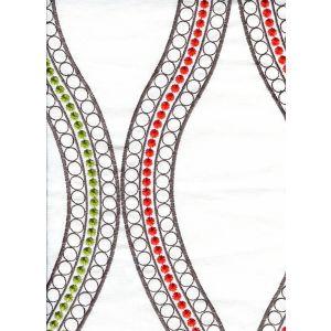 020110T-E LE CIRQUE EMBROIDERY Yellow Orange Red Green Quadrille Fabric
