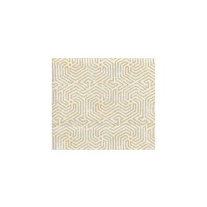 2510L-06 MAZE Inca Gold on Tint Quadrille Fabric