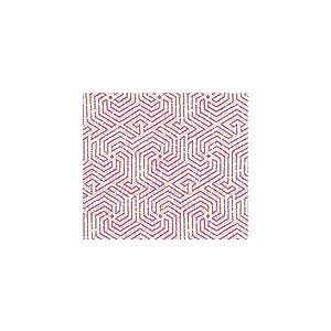 2510L-02 MAZE Magenta on Tint Quadrille Fabric