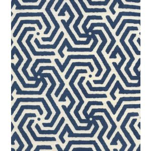 2525R-09 MAZE REVERSE ONE COLOR Navy on Tint Quadrille Fabric