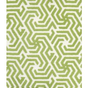 2525R-06 MAZE REVERSE ONE COLOR Spring Green on Tint Quadrille Fabric