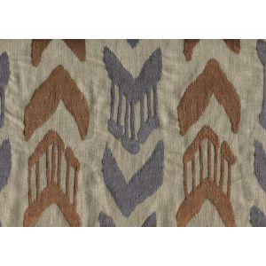 020240T-E MUMBAI IKAT Blue Brown Quadrille Fabric