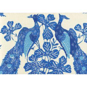8370-05 PEACOCK BATIK Multi Blues on Tint Quadrille Fabric