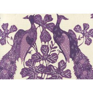 8370-02 PEACOCK BATIK Multi Purples on Tint Quadrille Fabric