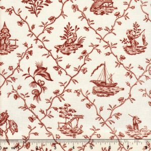 1662-07 PILLEMENT TOILE Bois Quadrille Fabric