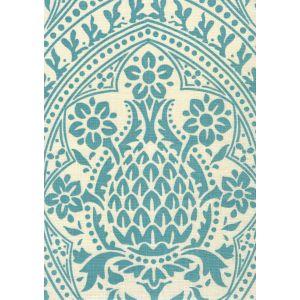 302133F PINA Dark Turquoise on Tint Quadrille Fabric