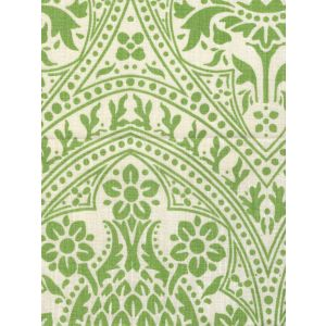 302134F PINA Jungle Green on Tint Quadrille Fabric