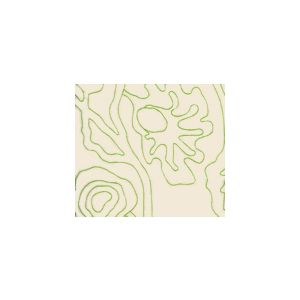 AC804L-32 POTALLA OUTLINE Jungle Green on Tint Quadrille Fabric