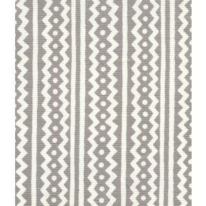 AC935-03 RIC RAC Gray On Tinted Linen Cotton Quadrille Fabric