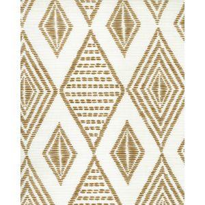 AC850-13 SAFARI EMBROIDERY Caramel on Tint Quadrille Fabric