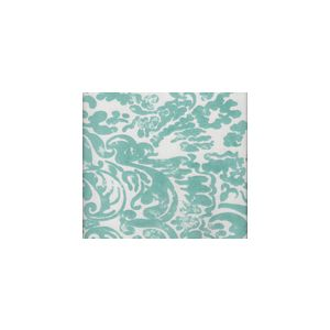 2330-03SUN SAN MARCO Turquoise on Off White Quadrille Fabric