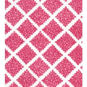 JF01000-06 SHANGHAI Raspberry on White Quadrille Fabric