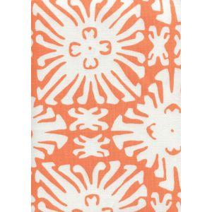 2485-04 SIGOURNEY REVERSE SMALL SCALE Orange on White Quadrille Fabric