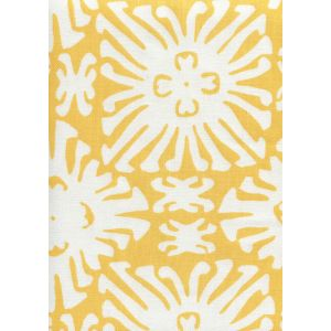 2485-03 SIGOURNEY REVERSE SMALL SCALE Yellow On White Quadrille Fabric