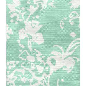 8130W-10 SILHOUETTE REVERSE Aqua on White Custom Only Quadrille Fabric
