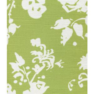 8130W-12 SILHOUETTE REVERSE Jungle Green on White Custom Only Quadrille Fabric
