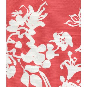 8130W-14 SILHOUETTE REVERSE Salmon on White Custom Only Quadrille Fabric