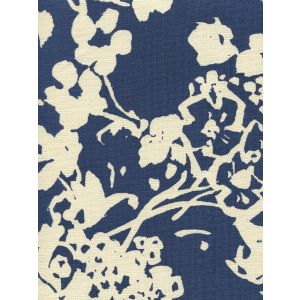 8130-09 SILHOUETTE REVERSE New Navy on Tint Custom Only Quadrille Fabric