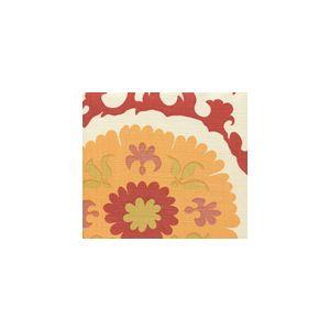 010227FSUN SUZANI Multi Salmon Yellow Quadrille Fabric