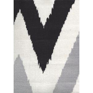 302609F TASHKENT II Black Metallic on Oyster Quadrille Fabric