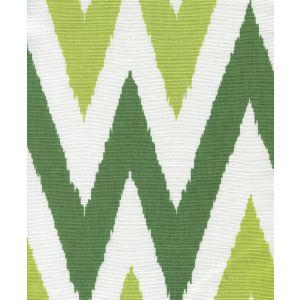 306024F TASHKENT II SMALL SCALE Green Grass Green on White Quadrille Fabric